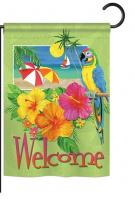 Tropical Welcome Garden Flag