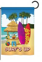 Surf\'s Up Hut Garden Flag