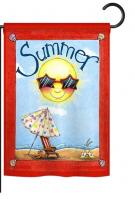 Fun in Summer Garden Flag