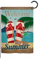 Welcome Summer Garden Flag