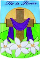 Holy Day Double Applique House Flag