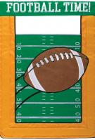 Football Time Double Applique House Flag