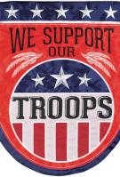 Troop Support Double Applique House Flag