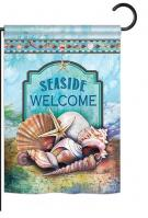 Seaside Shells Garden Flag