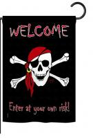 Enter at your own risk Garden Flag