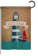 Lighthouse & Sailboat Garden Flag