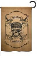 Instant Pirate Burlap Garden Flag