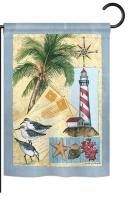 Lighthouse Letters Garden Flag