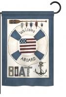 Welcome Aboard Boat Garden Flag