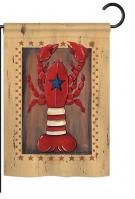 Patriotic Lobster Garden Flag