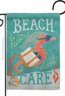 Seahorse Beach Hair Garden Flag