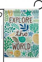 Explore The World Garden Flag