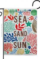 Sea And Sun Garden Flag