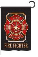 Fire Fighter Garden Flag