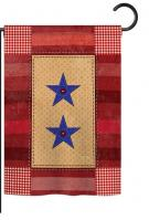 Two-Star Service Vintage Garden Flag