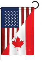 US Canada Friendship Garden Flag