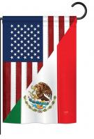 US Mexico Friendship Garden Flag