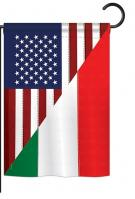 US Italian Friendship Garden Flag