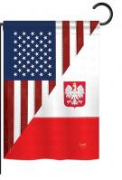 US Polish Friendship Garden Flag