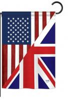 US UK Friendship Garden Flag
