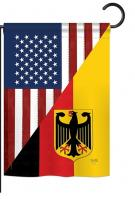 US German Friendship Garden Flag