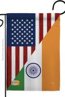 US India Friendship Garden Flag