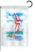 Sailboats Garden Flag