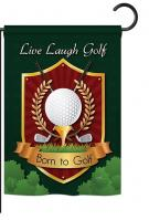 Live, Laugh, Golf Garden Flag