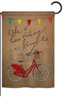 Bicycle Life Garden Flag