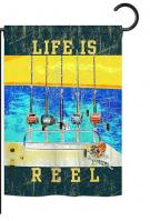 Life Is Reel Garden Flag