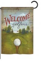 Welcome Golfers Garden Flag