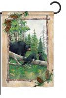 Black Bear & Cubs Garden Flag