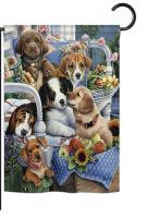 Country Pups Garden Flag
