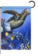 Flight of the Sea Turtle Garden Flag