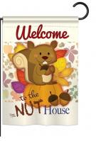 Nut House Garden Flag