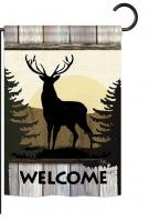 Welcome Wild Deer Garden Flag