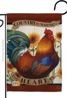 Country My Heart Garden Flag