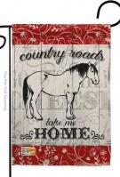 Country Roads Horse Garden Flag