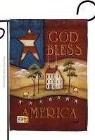 God Bless America Decorative Garden Flag