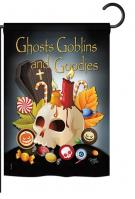 Ghosts Goblins and Goodies Garden Flag