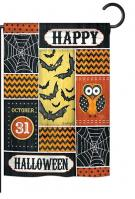 Halloween Happy Garden Flag