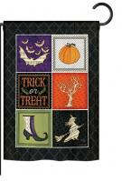 Trick or Treat Collage Garden Flag