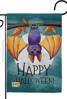 Happy Halloween Bat Garden Flag