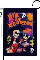 Dia De Muertos Couple Garden Flag