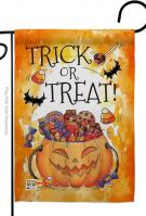 Trick Or Treat Candys Garden Flag