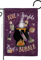 Toil And Trouble Garden Flag
