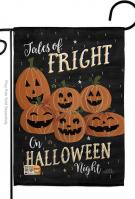 Fright On Halloween Night Garden Flag