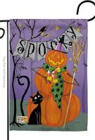 Spooky Pumpkin Men Garden Flag