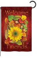 Welcome Friends Fall Garden Flag