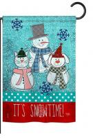 It\'s Snowtime Garden Flag